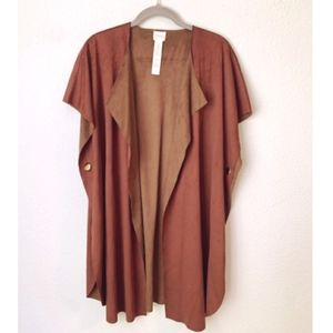 SALE   CHICO'S OVERSIZED BROWN PONCHO